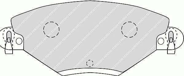 Тормозные колодки Тормозные колодки Ferodo ABE арт. FDB1411