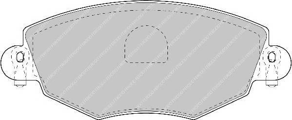 Гальмівні колодки, дискові PAGID арт. FDB1425