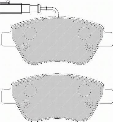 Гальмівні колодки, дискові ABE арт. FDB1466