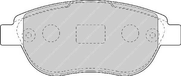 Гальмівні колодки, дискові ABE арт. FDB1476
