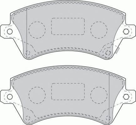 Тормозные колодки Тормозные колодки дисковые PAGID арт. FDB1573