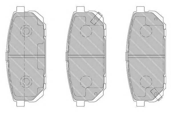 Тормозные колодки Тормозные колодки дисковые PAGID арт. FDB1736