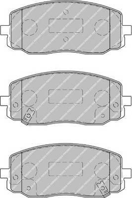 Гальмівні колодки, дискові ABE арт. FDB1783