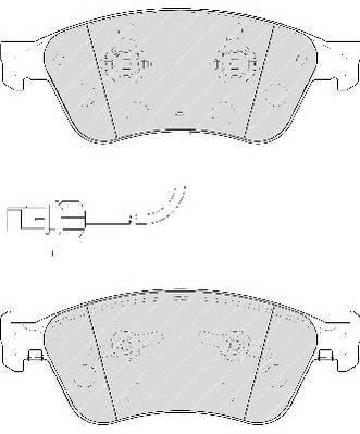 Тормозные колодки Тормозные колодки Ferodo ABE арт. FDB1832