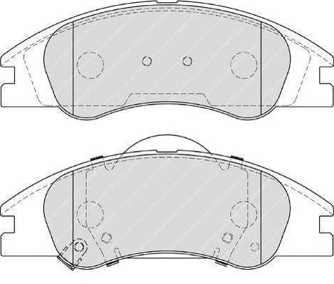 Тормозные колодки Тормозные колодки Ferodo PAGID арт. FDB4014