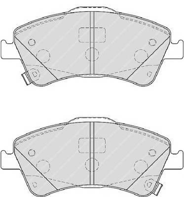 Гальмівні колодки, дискові ABE арт. FDB4047