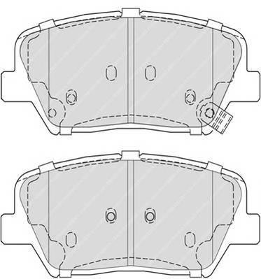 Тормозные колодки Тормозные колодки Ferodo ABE арт. FDB4396