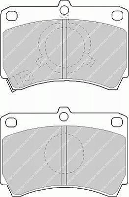 Тормозные колодки Тормозные колодки дисковые PAGID арт. FDB993