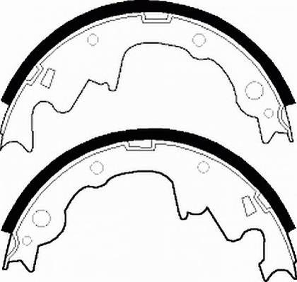 Тормозные колодки Тормозные колодки барабанные Ferodo ABE арт. FSB466