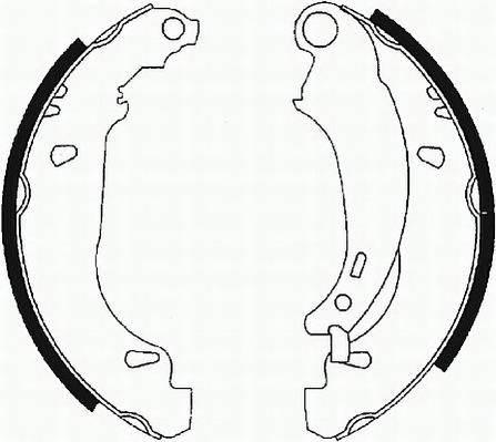 Тормозные колодки Тормозные колодки барабанные Ferodo ABE арт. FSB584