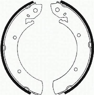 Тормозные колодки Тормозные колодки барабанные PAGID арт. FSB589