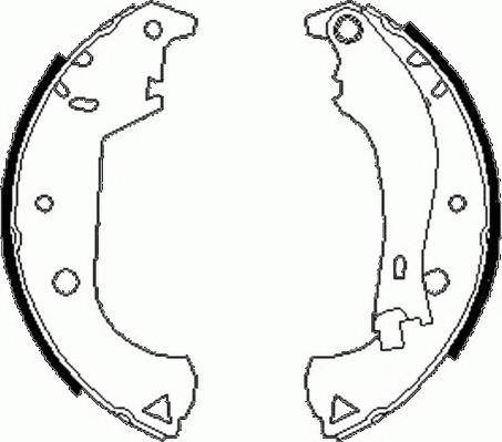 Тормозные колодки Тормозные колодки барабанные ABE арт. FSB604