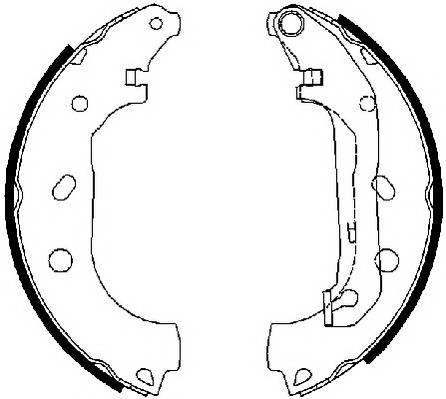 Тормозные колодки Тормозные колодки барабанные Ferodo ABE арт. FSB648