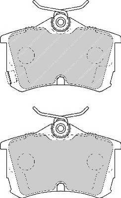 Тормозные колодки Тормозные колодки Ferodo PAGID арт. FSL1506