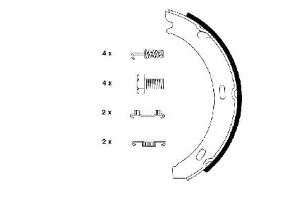 Тормозные колодки 164X20 Тормозные колодки PAGID арт. H8075