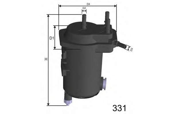 Фільтр(з датчиком води) паливний Renaul Clio/Kangoo 1.5DCi 01-04 MISFAT F113A
