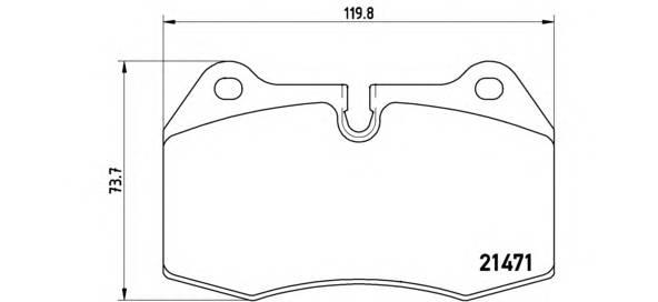 Тормозные колодки Тормозные колодки Brembo ABE арт. P06018