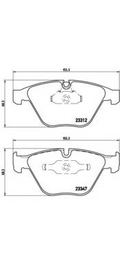 Тормозные колодки P06054 Тормозные колодки Brembo PAGID арт. P06031
