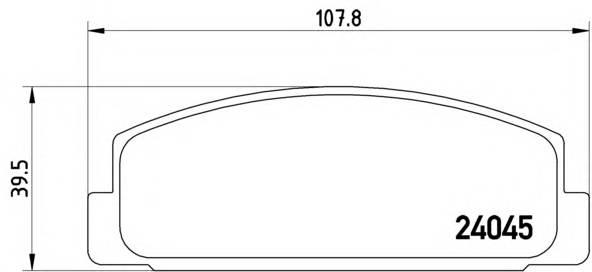 Тормозные колодки Тормозные колодки Brembo PAGID арт. P49036