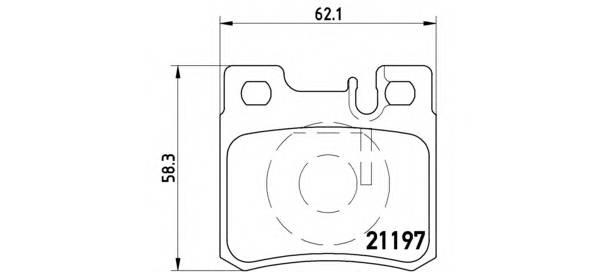 Тормозные колодки Тормозные колодки дисковые BREMBO арт. P50009