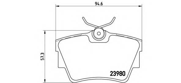 Тормозные колодки Тормозные колодки дисковые BREMBO арт. P59041