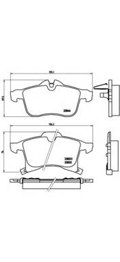 Тормозная система Гальмiвнi колодки, к-кт. PAGID арт. P59045