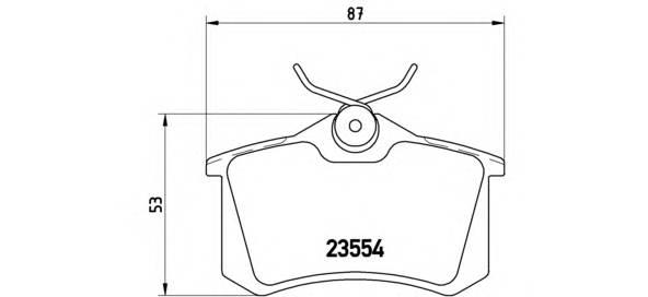 Тормозные колодки Тормозные колодки дисковые BREMBO арт. P85020