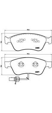 Тормозные колодки Тормозные колодки дисковые ABE арт. P85087