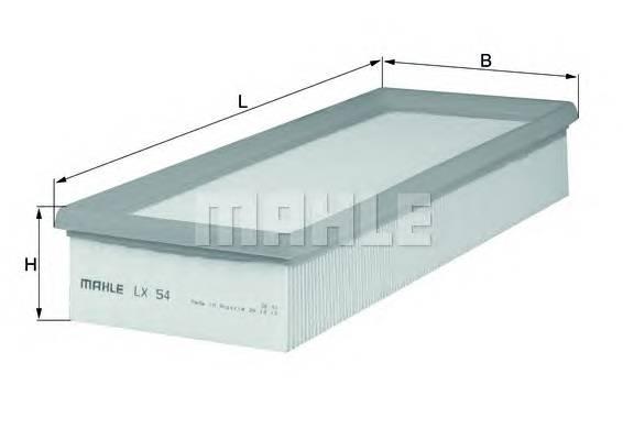 Воздушные фильтры Фільтр повітря KNECHT арт. LX54