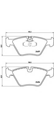 Тормозная система Гальмiвнi колодки, к-кт. ABE арт. P06022