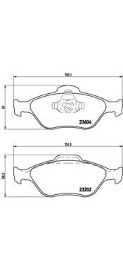 Тормозные колодки Тормозные колодки Brembo PAGID арт. P24055