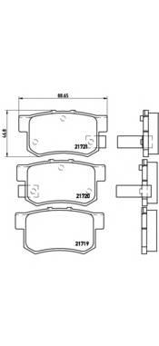 Тормозные колодки Тормозные колодки дисковые BREMBO арт. P28022