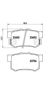 Тормозные колодки Тормозные колодки Brembo PAGID арт. P28039