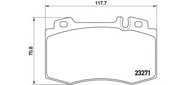 Тормозные колодки Тормозные колодки Brembo PAGID арт. P50041