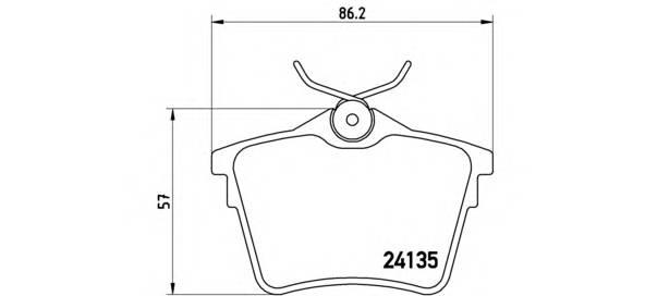 Тормозная система Гальмiвнi колодки, к-кт. PAGID арт. P61079