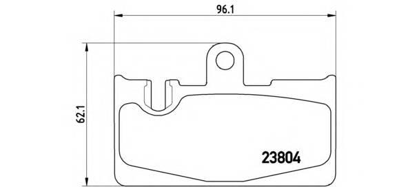 Тормозные колодки Тормозные колодки дисковые BREMBO арт. P83059