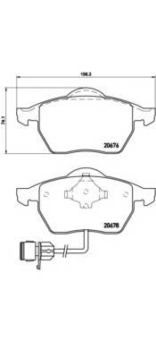 Тормозные колодки Тормозные колодки Brembo PAGID арт. P85026