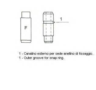 Направляющая втулка клапана. впускного 7,00x13,05x45,5  MB M102 METELLI 012278