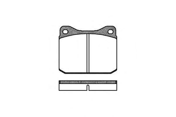 Тормозная система Гальмiвнi колодки, к-кт. PAGID арт. 201000