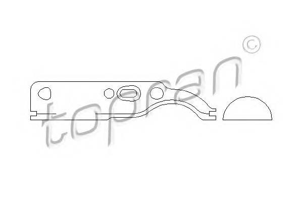 Прокладка, крышка головки цилиндра TOPRAN 109652