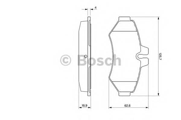 Тормозные колодки Тормозные колодки Bosch PAGID арт. 0986424516