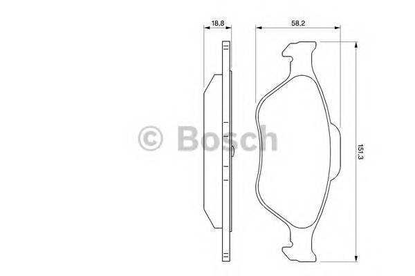 Тормозные колодки Тормозные колодки Bosch ABE арт. 0986424558