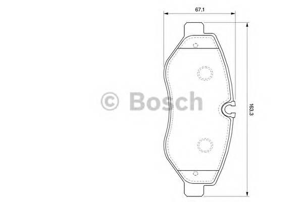 Тормозные колодки Тормозные колодки Bosch ABE арт. 0986494121