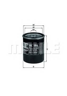 Масляные фильтры Фільтр масляний KNECHT арт. OC196