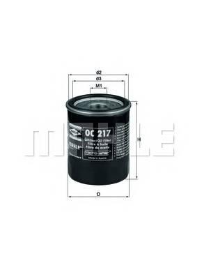 Масляные фильтры Фільтр масляний KNECHT арт. OC217