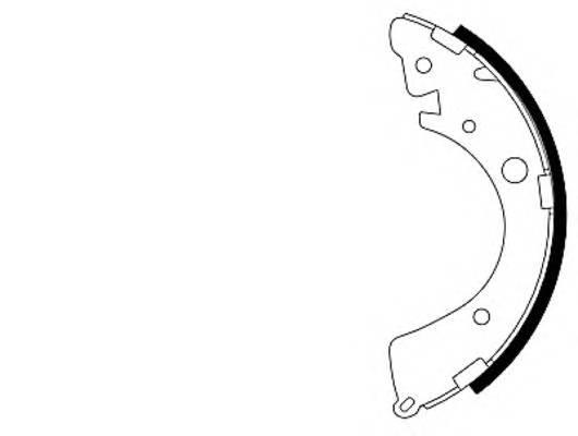 Тормозные колодки Тормозные колодки барабанные PAGID арт. 91039601