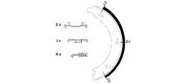 Тормозные колодки Тормозные колодки барабанные TEXTAR PAGID арт. 91054600
