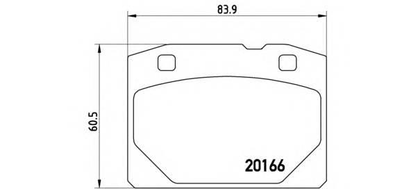 Тормозные колодки Тормозные колодки передние Lada 2101-07 Brembo PAGID арт. P41001
