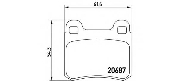 Тормозная система Гальмiвнi колодки, к-кт. PAGID арт. P50013