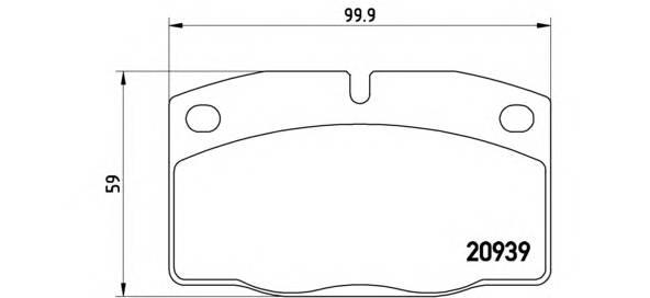 Тормозные колодки Тормозные колодки Brembo PAGID арт. P59005